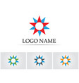 star logo template icon design vector image