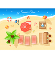 Summer Time Top View vector image vector image