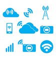 Symbol of the wireless signal vector image vector image
