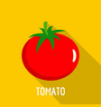 tomato icon flat style vector image vector image