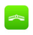 venice bridge icon digital green vector image