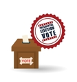 vote design over white background vector image