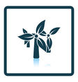 Wind mill with leaves in blades icon vector image vector image