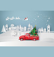 winter season and merry christmas vector image vector image