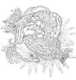Zentangle stylized tropical birdHand drawn vector image vector image