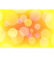 Abstract circle design yellow vector image
