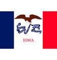 flag of iowa usa vector image