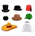 Traditional hat set vector image