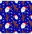 santa and moose vector image
