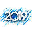 2019 new year background with blue strokes vector image vector image