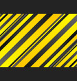Abstract yellow and black stripes background vector image vector image