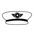 army officer hat icon vector image