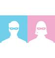 avatar head profile silhouette call center thief vector image vector image