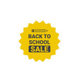 back to school seasonal sale tag poster shopping vector image