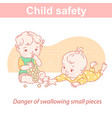 basafety two children and dangers at home vector image vector image