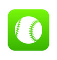baseball icon green vector image