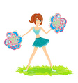 beautiful cheerleader vector image