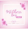 beautiful mothers day sale abstract banner vector image vector image