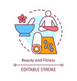 beauty and fitness concept icon healthy lifestyle vector image vector image