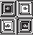 Black and white alternating squares with maple vector image vector image