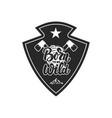 born wild mountain camp emblem template design vector image vector image
