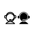 call center icon with outline and glyph style vector image vector image