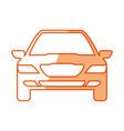 car vehicle symbol vector image vector image