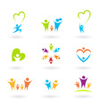 Children and family icons vector | Price: 1 Credit (USD $1)
