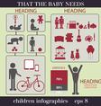 Children infographics vector image vector image