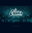 christmas card with a magic night sky forest vector image vector image