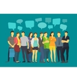 Community many ordinary people crowd talking vector image vector image