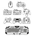 computer gamer equipment vector image vector image