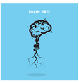 Creative brain tree abstract logo design vector image vector image