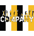 creative word concept company and people doing vector image vector image