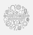 customer support round vector image vector image