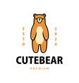 cute beer cartoon logo icon vector image vector image