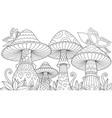 cute mushrooms vector image vector image