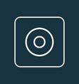 dartboard icon line symbol premium quality vector image vector image