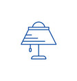 desk lamp line icon concept desk lamp flat vector image vector image
