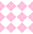 Diamond Chessboard Pink Background vector image vector image