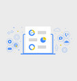 digital marketing flat banner business concept vector image vector image