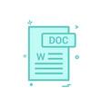 doc document fileformat icon design vector image