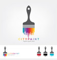 dripping paint rainbow background vector image vector image