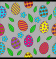 easter seamless pattern background cute outline vector image vector image