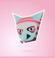 fantasy cartoon character with ears and trunk pink vector image