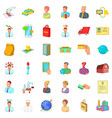 fast career icons set cartoon style vector image vector image