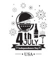 festive barbecue on the 4th of july vector image
