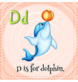 Flashcard letter D is for dalphin vector image vector image