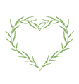 Fresh Green Ferns in A Beautiful Heart vector image vector image