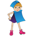 Girl in dress book vector image vector image